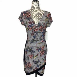 Almost Famous Short Sleeve Floral Print Dress